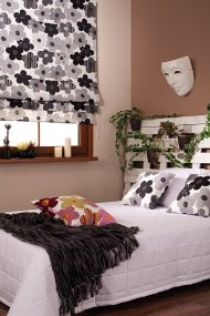 Sypialnia w stylu Eko, tkaniny z kolekcji Enjoy