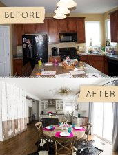 Aranżacja kuchni before & after