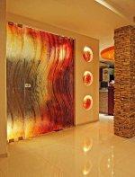 Villa Glass Studio   szklane drzwi i podświetlane bulaje